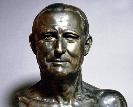 Bronze bust of Henry Wellcome