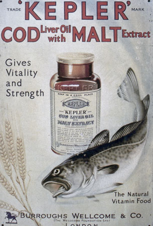 Advertisement for Kepler cod liver oil solution, Wellcome Images, L0025822