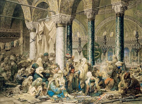 Refugees in Hagia Sophia
