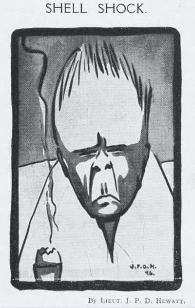 'Shell Shock': image from 'The Fourth' magazine. Wellcome Image No: L0046100