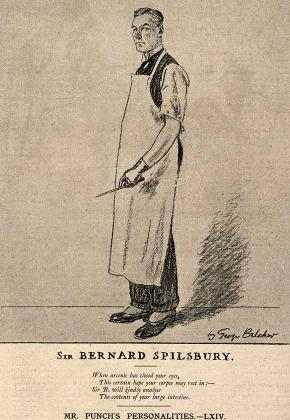Drawing of Bernard Spilsbury