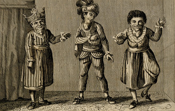 V0007350 Three wild born people, all with goitre. Engraving, 1787. Credit: Wellcome Library, London. Wellcome Images images@wellcome.ac.uk http://wellcomeimages.org Three wild born people, all with goitre. Engraving, 1787. 1787 Published: Published as the Act directs, 14 May 1787 Copyrighted work available under Creative Commons Attribution only licence CC BY 4.0 http://creativecommons.org/licenses/by/4.0/