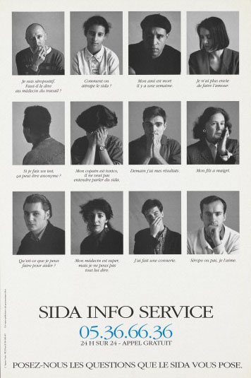 Three rows of individuals affected by AIDS Wellcome Images No. L0052908