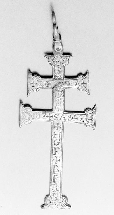 Metal plague cross.