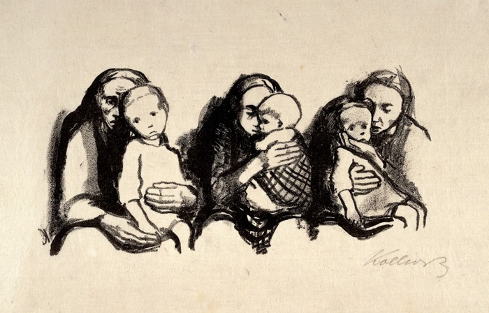 L0026695 Mothers holding their sick children waiting to consult a phy Credit: Wellcome Library, London. Wellcome Images images@wellcome.ac.uk http://wellcomeimages.org Mothers holding their sick children waiting to consult a physician. Lithograph by K. Kollwitz, 1920. 1920 By: Käthe Schmidt KollwitzPublished: 1920 Copyrighted work available under Creative Commons Attribution only licence CC BY 4.0 http://creativecommons.org/licenses/by/4.0/