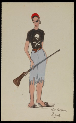 Pantomime costume design: Pirate