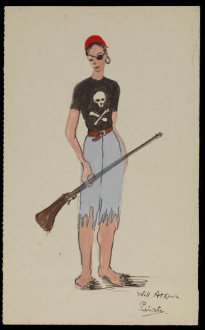 Pantomime costume design: Pirate