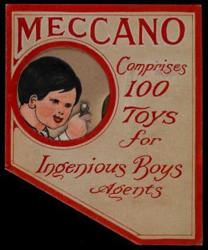 Advertisement for meccano
