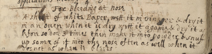 Recipe from 1680 recipe book.