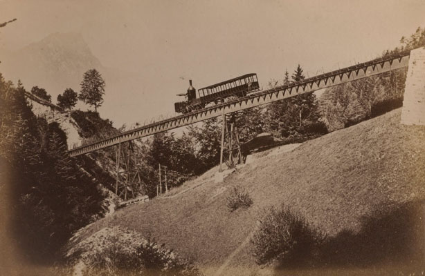 Photograph of the Vitznau-Rigi railway in Switzerland. Wellcome Images No.L0068428