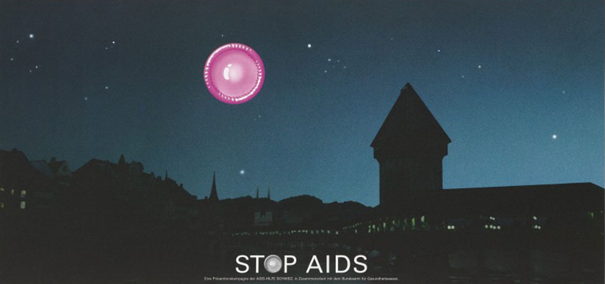 Stop AIDS campaign poster. Wellcome Images No. L0053695.