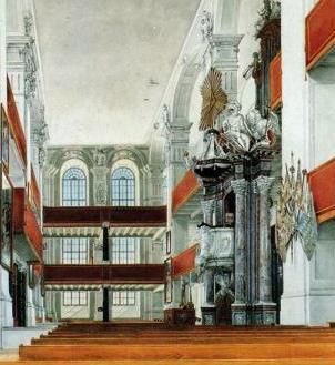 watercolour of Potsdamer Garnisonkirche