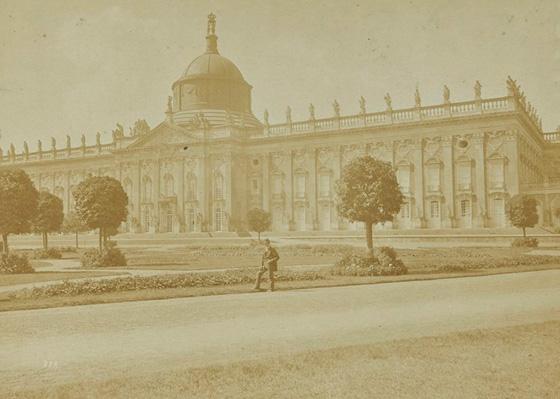 Neues Palais, Potsdam. Albumen print, ca. 1875. Wellcome Library no. 24148i (detail)