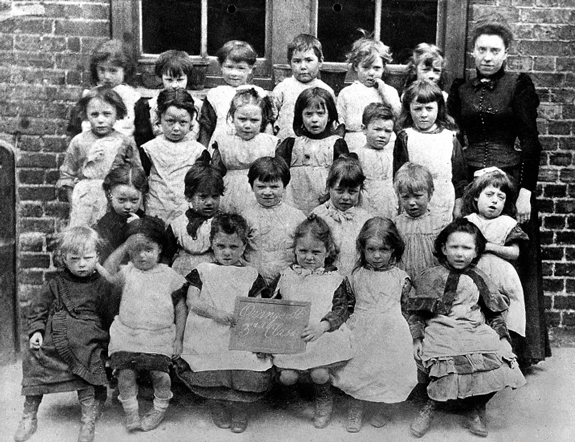L0024915Credit: Wellcome Library, London  E.3/2,  Scholars of Snowsfield School, Bermondsey, girls at the Orange Street School, 1894. From: Health Visitors Association  Collection: Archives & Manuscripts  Library reference no.: CMAC SA/HVA/E.3/2