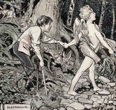 Cupid leading a crippled boy through a forest. Wellcome Image no. L0028517