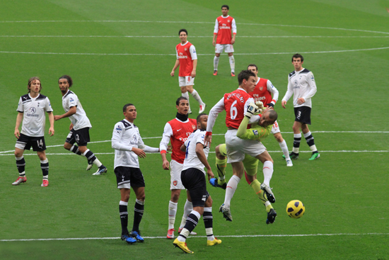 Arsenal vs Spurs soccer match