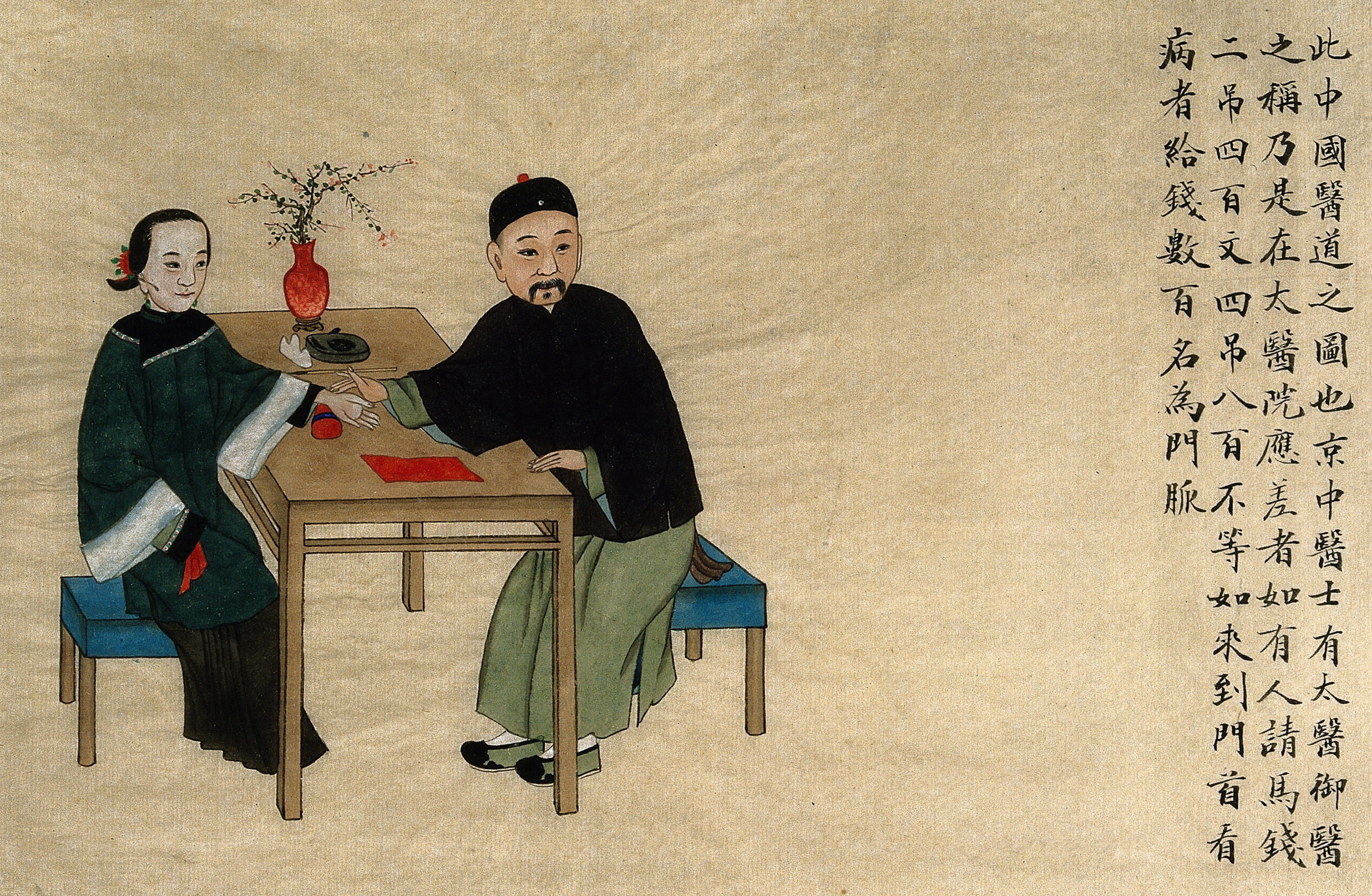 Chinese doctor with woman.