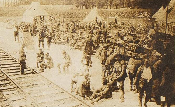 RAMC photograph of WWI wounded