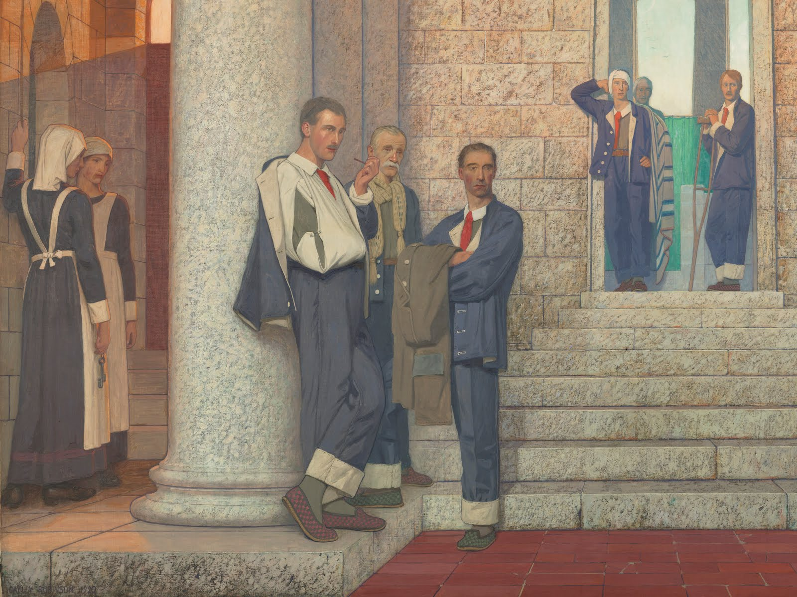 """Fig. 1 Detail of """"The doctor: I"""" by Frederick Cayley Robinson. Wellcome Images No: L0051537"""