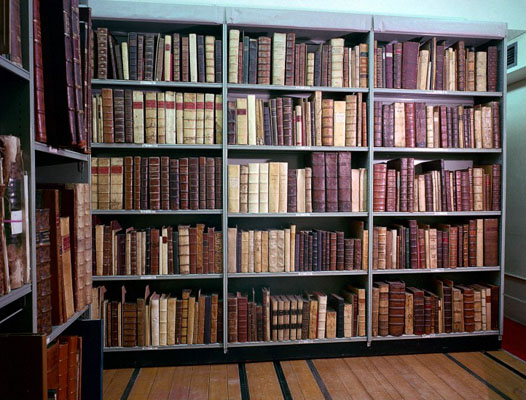 Early Printed Books in strong room. Wellcome Images No. L0017437