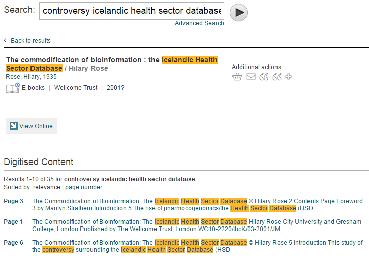 Full-text search results for controversy icelandic health sector database