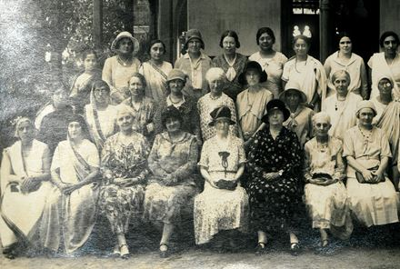 Group of medical women in India, n.d including M I Balfour (front): PP/MIB/C/6