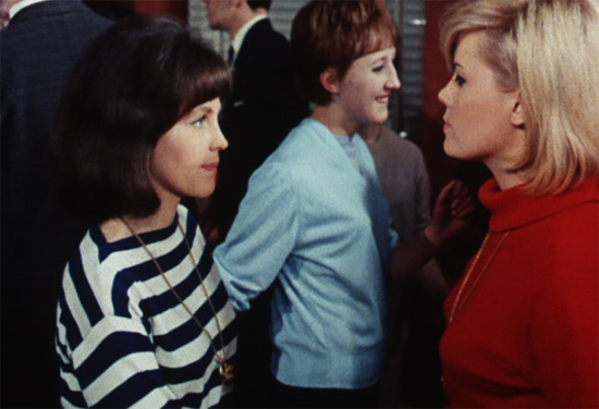 Still from the film featuring youthful appearances by Pauline Collins (left) and Wendy Richards (right).