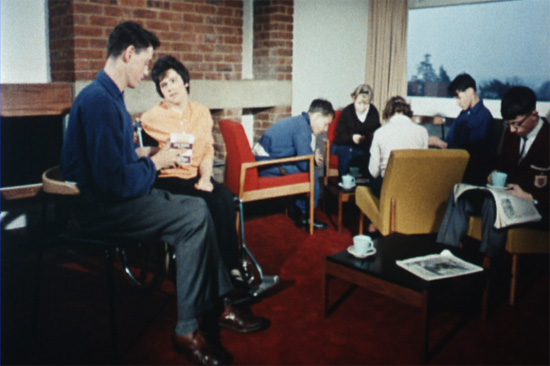 Still from the film showing disabled people at a residential centre.