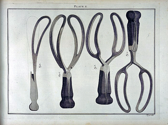 Forceps. From a collection of engravings representing the most modern and approved instruments used in the practice of surgery. By J.H.  Savigny, London 1798. Wellcome Images L0033040