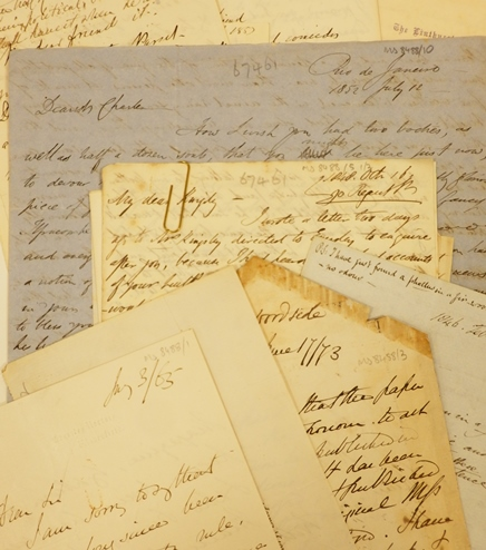 Selection of items from MS.8488, Rev. Charles Kingsley (1819-1875), clergyman and novelist. Photographed by Natalie Walters.