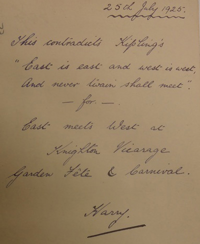 Inscription on the reverse of the photograph. Wellcome Library reference: