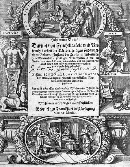 Title-page of 17th century book.