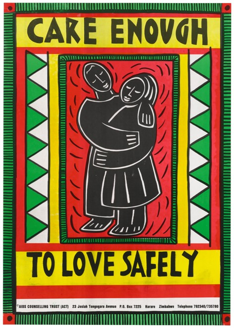 AIDS prevention poster by Jane Shepherd for the AIDS Counselling Trust (ACT) of Zimbabwe, 1991. Wellcome Library no. 678757i