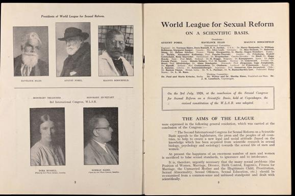World League for Sexual Reform leaflet