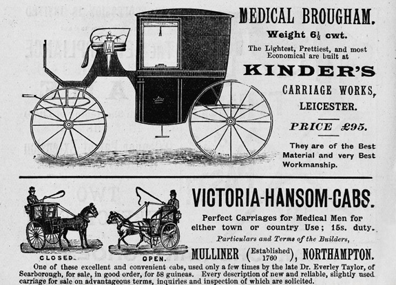 Advertisments in the Medical Directory. Credit: Wellcome Library, London. Wellcome Images images@wellcome.ac.uk http://wellcomeimages.org