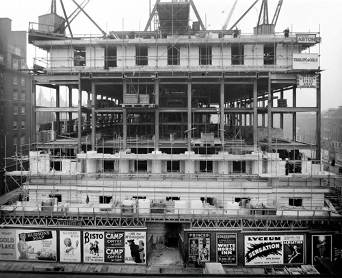 The Wellcome Building under construction