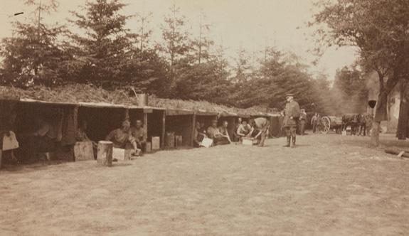 Tea time at the Field Ambulance camp