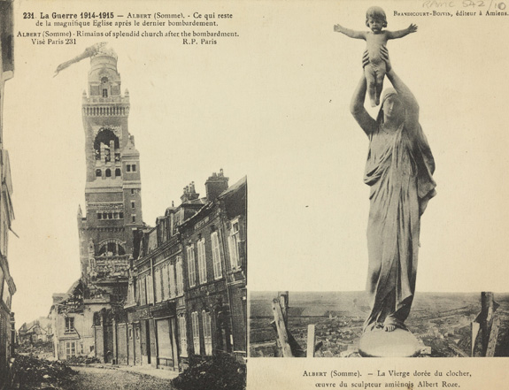 Postcard of the Basilica of the Notre Dame de Brebières. Wellcome Library reference: