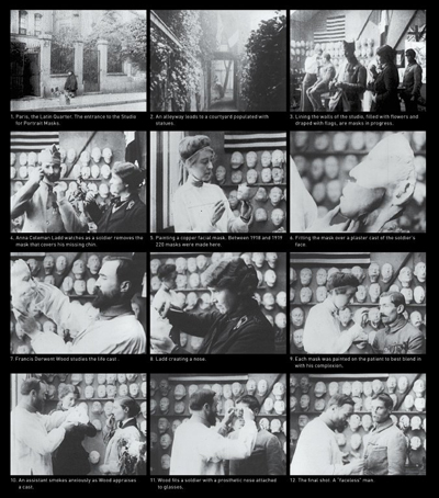 Stills from the film Plastic Reconstruction of the Face (1918).