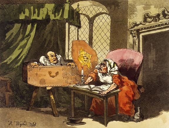 The dead alive! H. Wigstead, 1784. Wellcome Image no. L0031335.