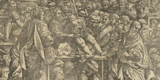 Woodcut of dissection