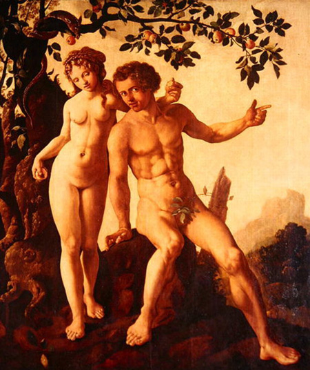 Painting of Adam and Eve