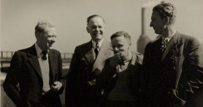Photograph of Robert Race, Arthur Mourant and others