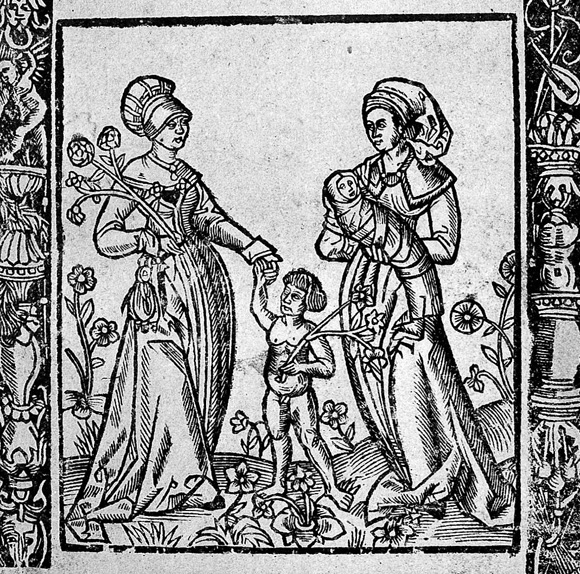 Title-page of 1513 midwifery book.