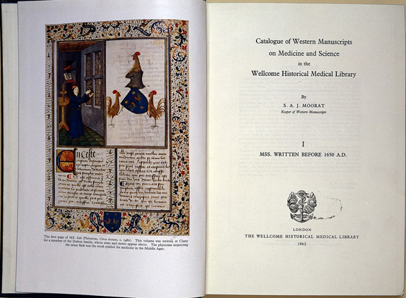 Frontispiece and title-page of Moorat catalogue.