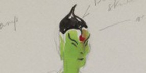L0074472 Painting of a genie. Costume design for Netherne pantomime.