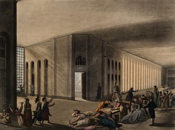 Rowlandson print of St Luke's Hospital
