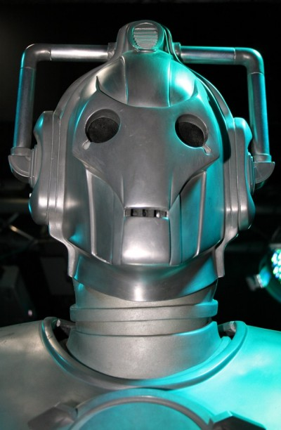 A Cyberman, photographed at a 2008 Dr Who exhibition (photoby Keven Law, made available under Creative Commons).