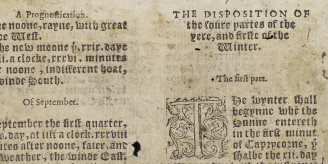 Fragment from 1562 almanac.