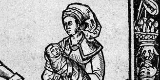 Image from 1513 midwifery book.